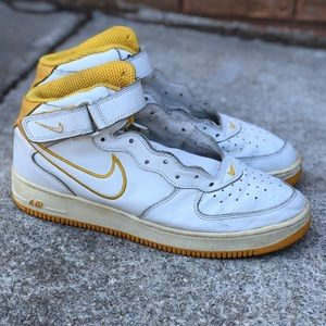 "Vintage Air Force 1 Mid ""Yellow Ochre"""